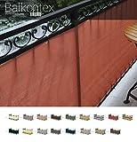 !Balkonsichtschutz Balkonblende nach Maß Höhe 75cm Grün Wenge Kakaomilch Mocca! (75 x 750cm, Rattan Wenge)