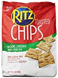 Ritz Toasted Chips, Sour Cream & Onion Flavored, 8.1 oz