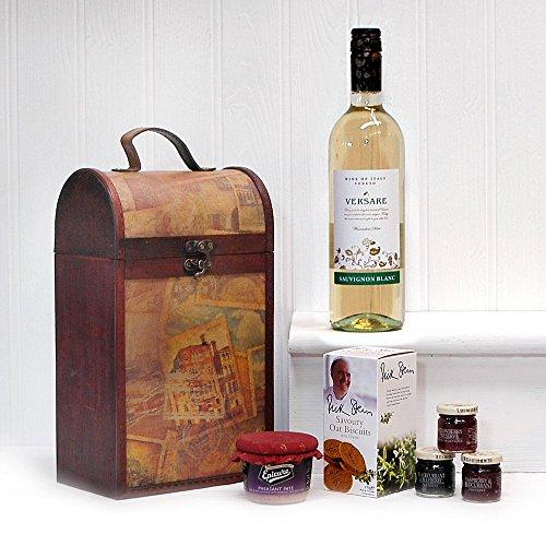 Premio Clarendon epoca cesta cassa di legno con 750ml Versare vino bianco Sauvignon blanc