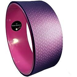 MyYogaWheels - Rueda de pilates y yoga para estiramientos de espalda, color rosa y lila