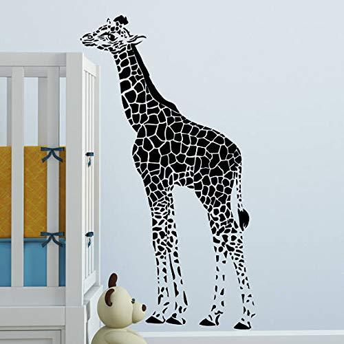 guijiumai Adesivi murali Baby Giraffa per vivaio Camera da Letto per Bambini Camera da Letto in Vinile Decalcomanie Impermeabili Soggiorno Art decor42x74 cm
