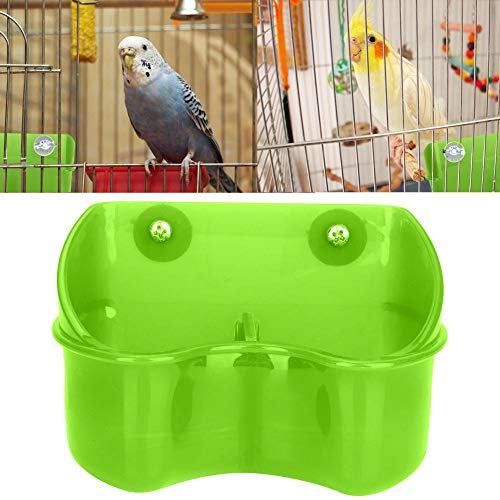 HEEPDD Vogelkäfig Feeder, Doppel Plastik Futternapf Gericht Essen Wasser Feeder für Papageien Wellensittich Nymphensittich Geflügel Pigeon Wachtel (Grün)