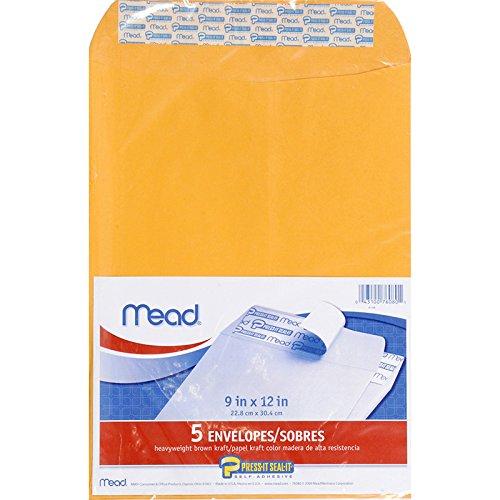 Meadwestvaco MEA76080 Mead Dr-cken Sie Seal Es 5ct 9 X 12 Umschl-ge