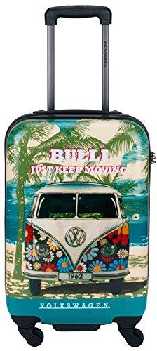 Hartschalenkoffer-Reisekoffer-Koffer-Trolley-VW Volkswagen-Bulli Bus-L-67cm-Bowatex