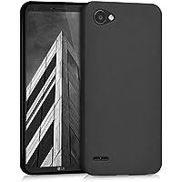 kwmobile Hülle für LG Q6 / Q6+ - TPU Silikon Backcover Case Handy Schutzhülle - Cover Schwarz matt