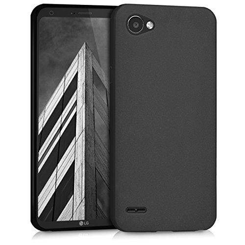 kwmobile Hülle für LG Q6/Q6+ - TPU Silikon Backcover Case Handy Schutzhülle - Cover Schwarz matt (Handy Hülle Für Ein Lg)