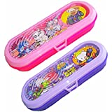 Kp Combo Set Of 2 New Cute Hot Selling Kids Game Plastic Multifunctional Pen /pencil Holder Case Box For Kids Boys & Girls- (Large)