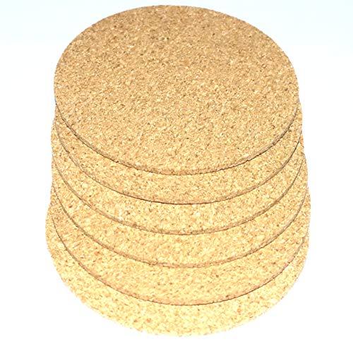 Gold-runde Glas-esstisch (Untersetzer 6er Set Gläser Untersetzer Glasuntersetzer Set Glasuntersetzer Filz Holz Kork Coaster für tassen Tisch Bar Glas Gläser Kaffeebecher 6 Stück rund 10 cm Durchmesser