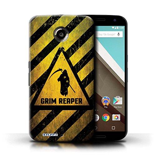 Kobalt® Imprimé Etui / Coque pour Motorola Nexus 6 / Bombe Atomique conception / Série Signes de Danger Décès/Faucheuse