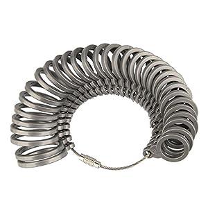 Beauty7 Kunststoff Ringmass Ringgröße Bestimmung Ring Messgerät Finger Size Measure Standard EU Größen
