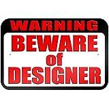 """graphique et plus """"avertissement Attention au design"""" 22.9x 15.2cm plaque en métal Tableau"""