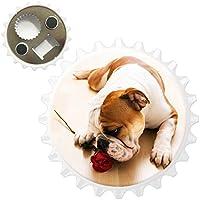 British Bulldog inglese apribottiglie magnete per frigorifero, Bull Dog With