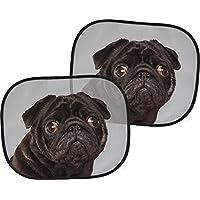2 Auto Sonnenschutz Welpe Hund Ohne Mops ist alles doof 2er Set Beige