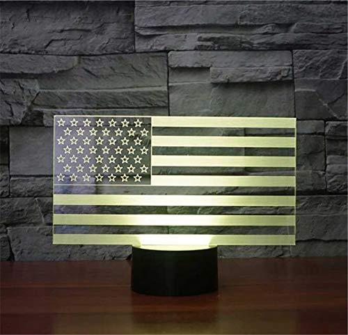Kreative Amerikanische Flagge Modell 3D LED Nachtlicht Bunte USB Schlafzimmer Dekor Schreibtisch Tischlampe Baby Schlafen Beleuchtung Als Geschenk -