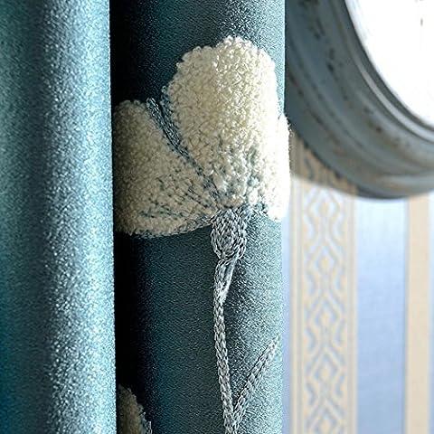 brodée et rideaux occultant fenêtre traitements Produit Fini Grande taille Chambre à coucher Salon moderne rural flottant Rideaux pour baie vitrée/, 1pc(300*270 cm?