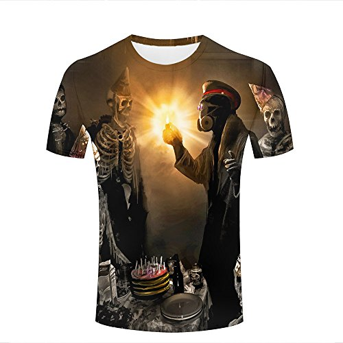al Design 3D Printed Gas Masks Skeletons Masks Romantically Apocalyptic Graphic Short Sleeve Couple T-Shirts Top Tee XXL (Jack Skeleton T-shirt)