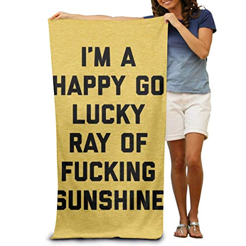 WBinHua Toallas, Ray of Sunshine Funny Quote AC Microfiber Fast Drying Beach Towels Bath Towels Swimming Pool Towel Adults SPA Bath Towel 31' X 51'