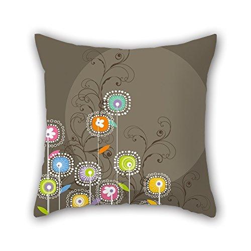 niceplw flores pillowcover 18x 18pulgadas/45por 45cm mejor elección para sala de estar,...