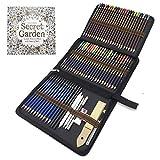Matite di Disegno Artistico, 72 Kit Matite da schizzo e Matite Colorate di Grafite di Carbonio Matite di Legno, Fornire a Artista Professionale e Principianti
