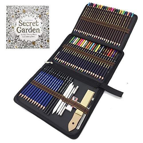 72 Stück Bleistifte Set, Skizzieren Zeichnen Stifte