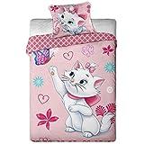 Les Aristochats Parure de lit Les Aristochats Marie Cat Papillon - Housse de couette lit 1 personne