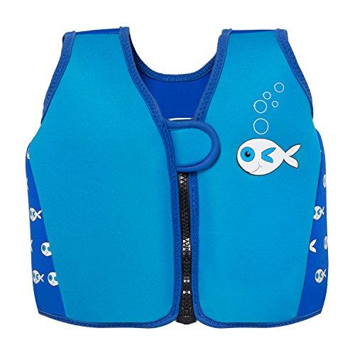 Swimbest - Baby/Kinder - Schwimmjacke / Schwimmweste aus Neopren, Blauer Fisch, 16 Monate - 3 Jahre (Bis zu etwa 20 kg)