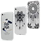 MAXFE.CO Coque pour iPhone 8/iPhone 7 Silicone Protection Mince Souple en Gel Case Cover TPU Original Motif Coque pour Apple iPhone 8/iPhone 7(4.7 Pouces) Plume + Dream Catcher + Totem