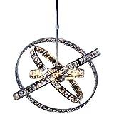 s`luce Orbit Hängeleuchte, Ø50cm, mit Kristallglas, chrom P1210