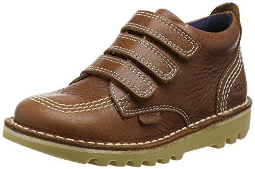 Kickers Boys' Kick 3-Strap Lthr Im Closed-Toe Sandals, Brown (Tan), 8.5 UK...