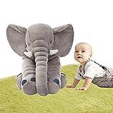 Topkundenservice Baby Elefant Kissen,100 % Weicher Plüsch Elefant Schlafkissen Besten Geschenke für Ihre Baby Large Size