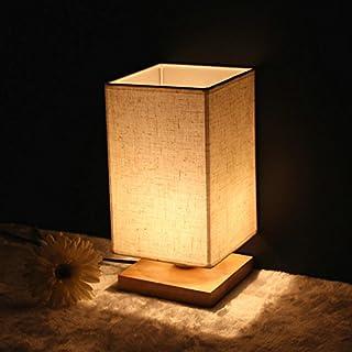akldigital modern simple dimmable desk lamp solid wood original garden style bedroom bedside table lamp rectangle 28cmx14cm,dimmer switch