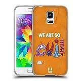Head Case Designs Böse Typographie Monster Soft Gel Hülle für Samsung Galaxy S5 Mini