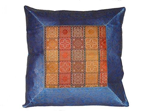 Orientalischer Kissenbezug Kissenhülle Dekokissen Zierkissen Sofa Kissen Bezug 40 cm x 40 cm (Marokkanische Sofa Decke)