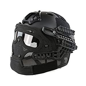 WorldShopping4U Tactical Airsoft Full Face Googles G4 System Protective Mask Helmet Paintball