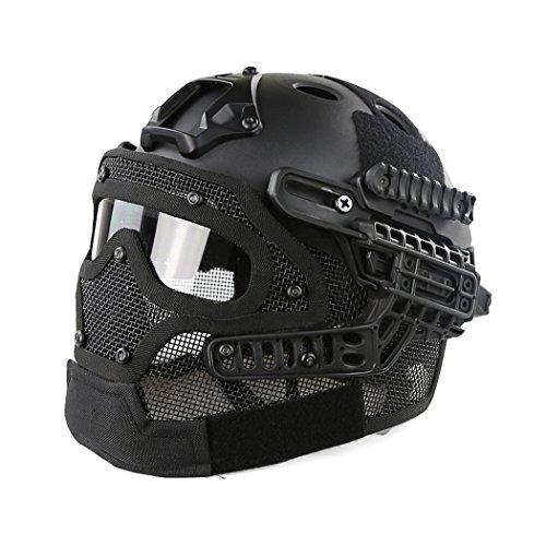 Casco de la máscara protectora táctica del...