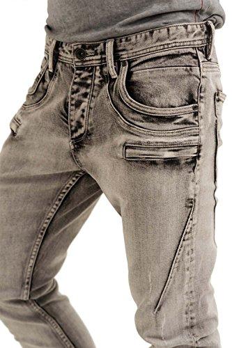 trueprodigy Casual Herren Marken Jeanshose mit Stretch, Hose cool und stylisch Denim vintage (destroyed & Slim Fit), Jeans für Männer in Farbe: Blau 6273104-1056-28/2, Farben:Bleached, Größe:W29 L34