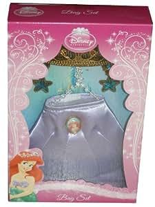 Disney, Princesse Bag Set Ariel, Diadème, Pochette, Boucles d'oreilles