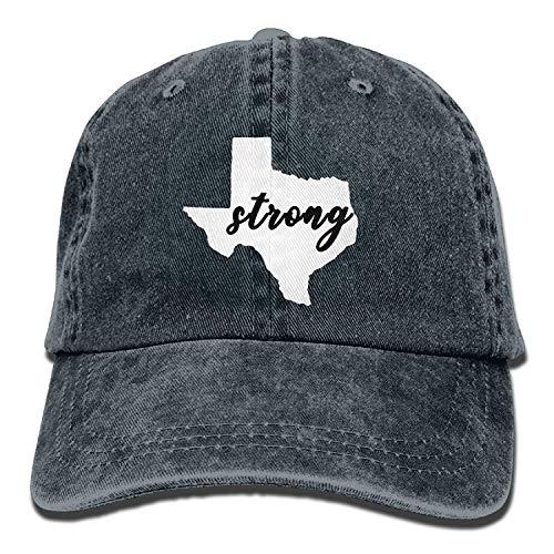 Presock YLY's Texas Strong Unisex Adult Vintage Washed Denim Adjustable Baseball Cap -