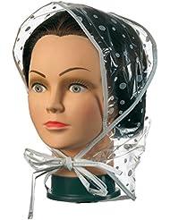 Comair 3040017 Regenhaube mit Schirm, weiss/transparent