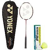 Yonex Voltric 200 THL & Mavis 350 Combo (Voltric 200 THL Taufic Hidayat Special Edition Badminton Racquet + Mavis 350 Pack Of 6 Shuttlecock)