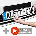 1 x Klett-Car Auto Kennzeichenhalter rahmenlos - Nummernschildhalterung für alle gängigen KFZ - absolut unsichtbarer Nummernschildhalter - Autokennzeichen Halterung