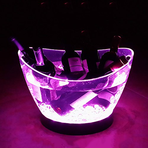 xinye LED Acryl Glowing Ice Bucket für Drink Wine? 12 Liter 7 color - 12l Led