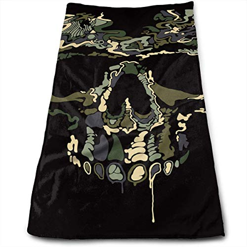 Pink Camo Scrubs (ERCGY Bath Towels Camo Skull Face Towels Highly Absorbent Washcloths Multipurpose Towels for Hand Face Gym and Spa 12