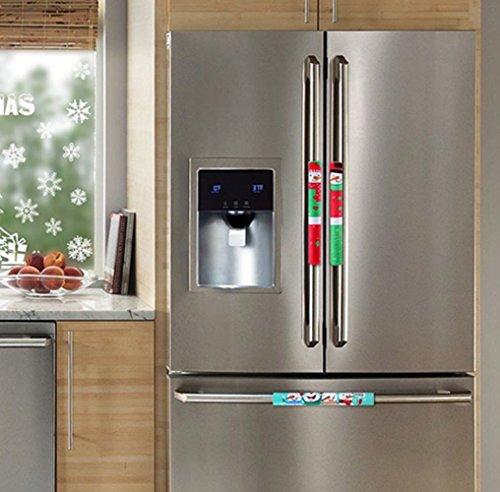 Griffhülle, Weihnachten Küche Griff Dekoration für Mikrowelle, Kühlschrank, Tür-Set von 3-Urlaub Dekoration Idee ()