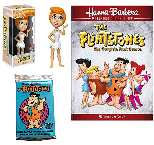 Bedrock Cartoon DVD Collection & Figure Pack Flintstones Season Watch The Stone-Age family TV Classic show