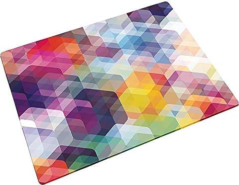 Joseph Joseph - Planche en Verre/Dessous de Plat - 40 x 30 cm - Hexagones