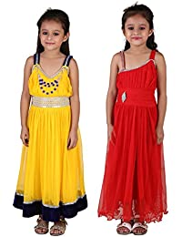 eab12ae20ada Crazeis Girl's Beautiful Party Wear Dress Combo for Age 3 to 8 Years (Pack  of