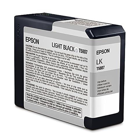 Epson T5807 Cartouche d'encre d'origine 1 x noir clair