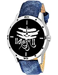 Scarter Mahadev Black Dial Analog Watch For Boys And Men (Blue Jeans)