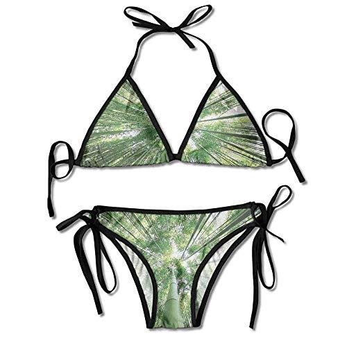 Hot Summer Women's Bikini,Bamboo Trees in Grove Sexy Bikini 2 Pieces -